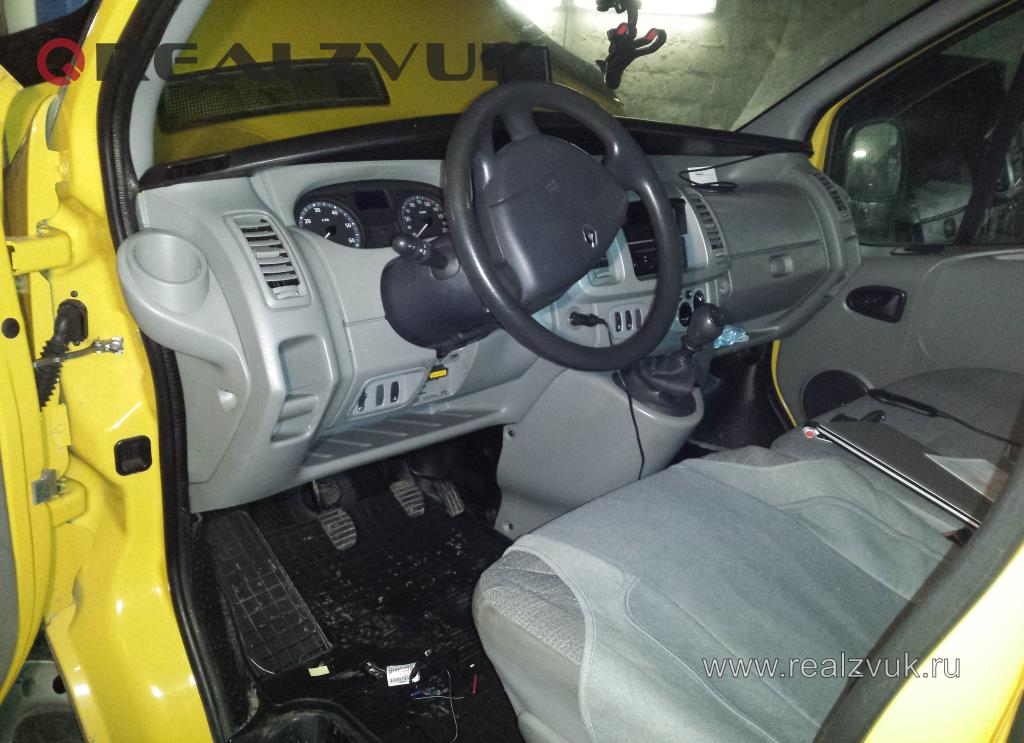 Установка сигнализации с турботаймером на Renault Trafic