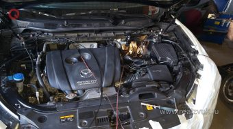 Дополнительный иммобилайзер и замки капота на Mazda CX5