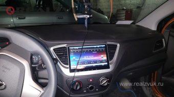 Замена магнитолы на Hyundai Solaris