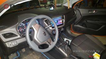 штатная магнитола на Hyundai Solaris