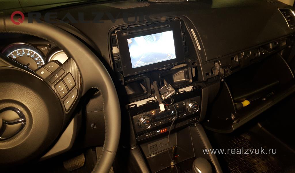Парктроник и камера заднего вида на Mazda CX-5