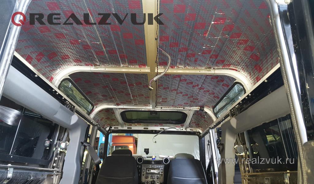 Шумоизоляция потолка Land Rover