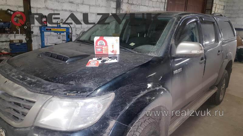 Установка сигнализации Toyota Hilux