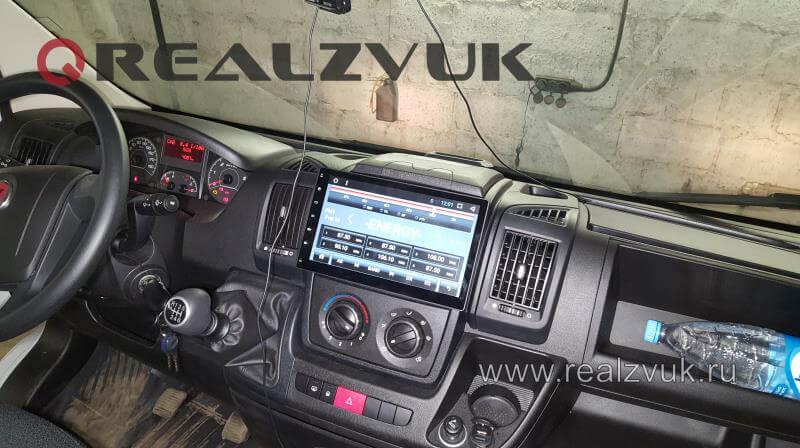 Магнитола и акустика на Fiat Ducato