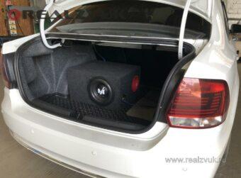 Установка сабвуфера на VW Polo