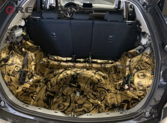 Mazda CX5 виброизоляция багажника