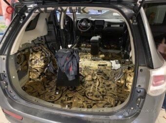 Шумоизоляция багажника outlander