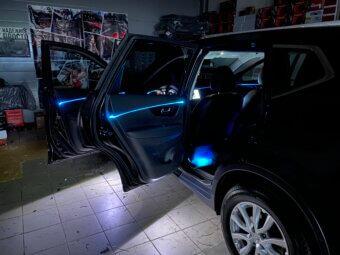 Контурная подсветка Nissan Xtrail